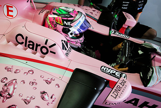 Extra Hype Energy branding featured at the 2017 Bahrain GP