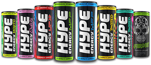 Hype Energy Drinks Lineup