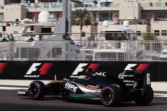 Extra Hype Energy branding Featured On Sahara Force India's Cars at the Abu Dhabi GP
