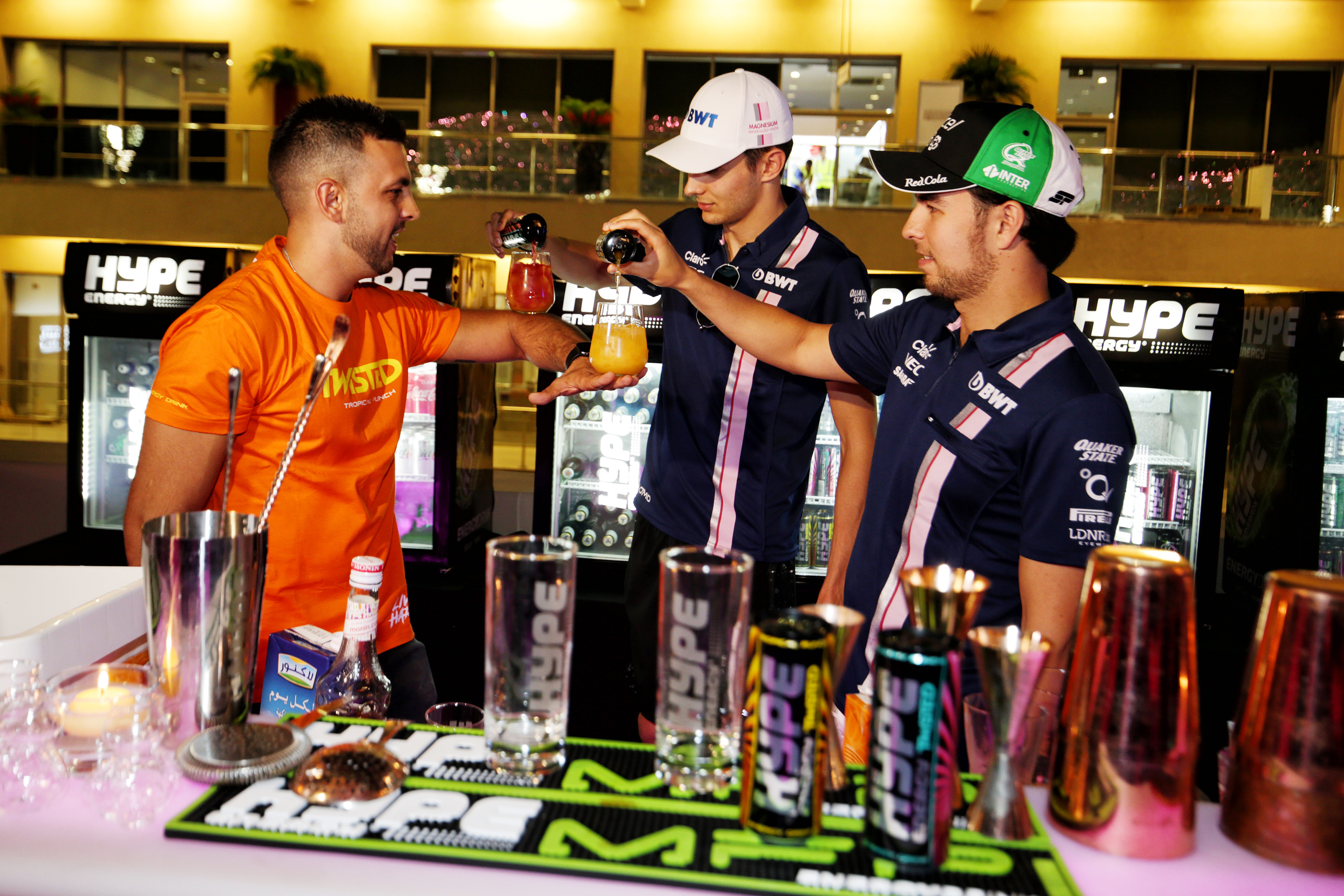 Hype Energy Twisted Launch Sergio Perez Esteban Ocon Cocktails