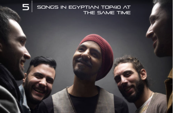 Cairokee In Numbers: 5 - Number of Songs in Egyptian Top 40 at the Same Time