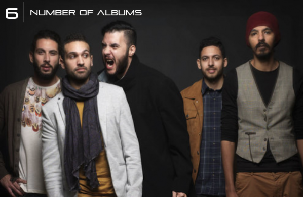 Cairokee In Numbers: 6 - Number of Albums