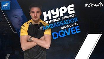 Dave 'Dqvee' Davis Announced as Hype Energy Gaming Ambassador