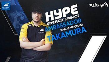 Pro SFV Player Takamura Announced as Hype Energy Gaming Ambassador