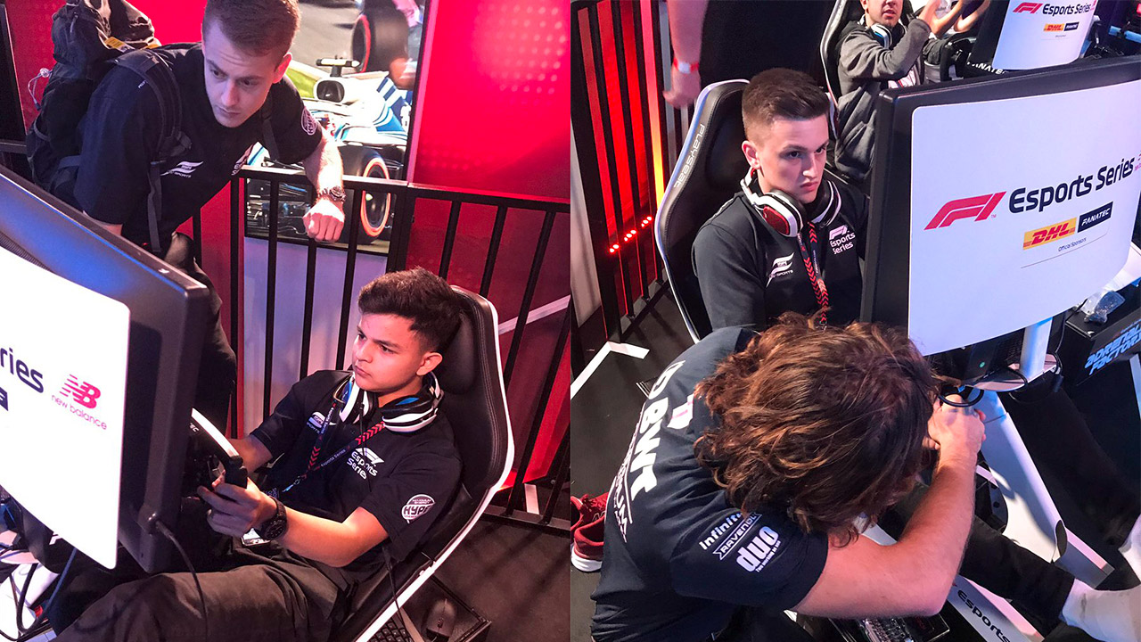 Fabrizio Donoso Delgado and Marcel Kiefer Hype Energy eForce India F1 Esports Pro Series Gfinity Arena