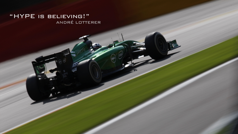Andre Lotterer F1 - Hype is believing