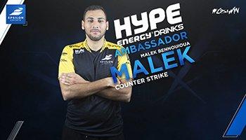 CS:GO Star Malek Joins Hype Energy